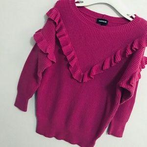 Express Ruffle knit sweater.